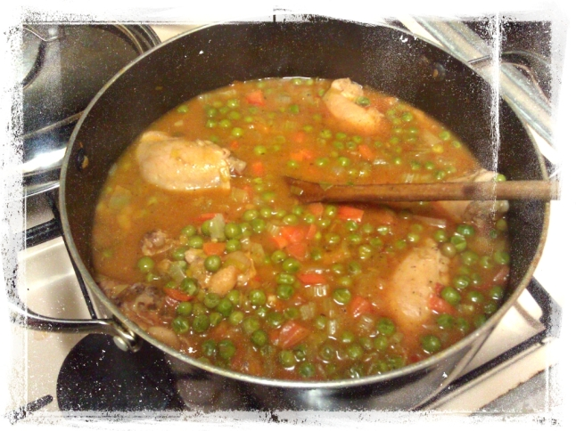 chicken and peas casserole